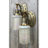 L12144 - Pair of Antique Neoclassical Wall Sconces with Iridescent Shades