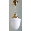 L14023 - Antique Beaux Arts Heavy Satin Etched Pendant Fixture