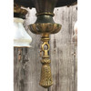 L14030 - Antique Colonial Revival Four Light Steuben Glass Hanging Fixture