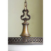 L14128 - Large Scale Antique Beaux Arts Cast Bronze Pendant Fixture
