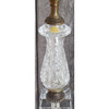 L14226 - Vintage Hollywood Regency Cut Glass Table Lamp