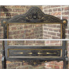 A15039 - Antique Renaissance Revival Ebonized Fireplace Screen