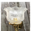 L17021 - Antique Gas Double-Jointed Swing Arm Sconce