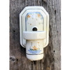 L17161 - Antique Porcelain Bare Bulb Bathroom Sconce