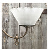 L17174 - Antique Colonial Revival Brass Two Light Hanging Fixture