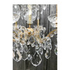 L17188 - Contemporary Gold Plated Brass and Crystal Six Arm Chandelier