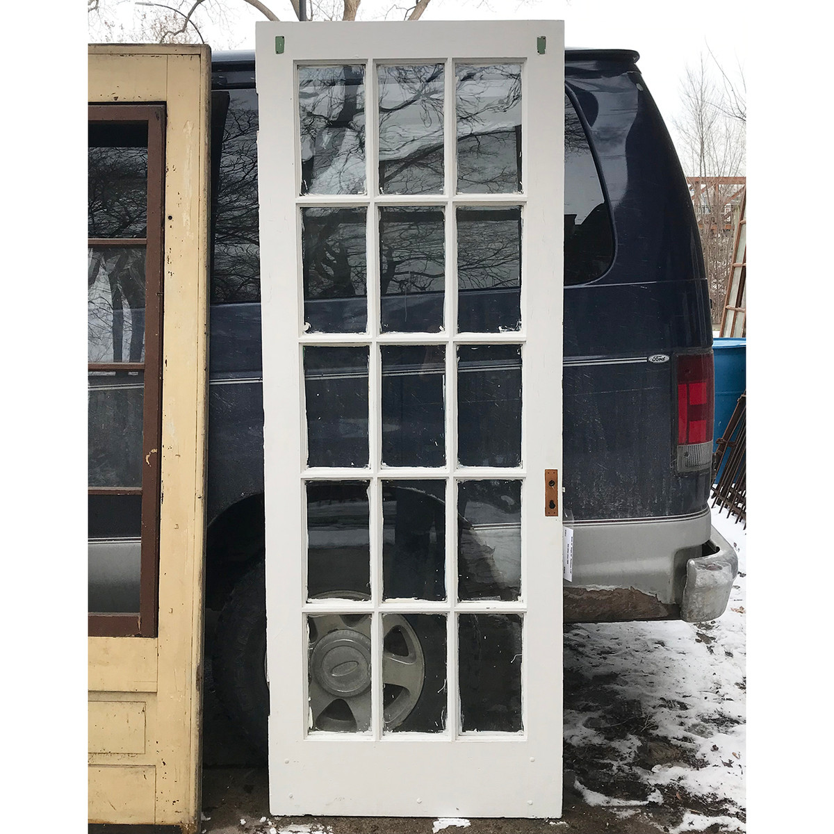 D18012 Antique Pine Interior French Door 30 X 80