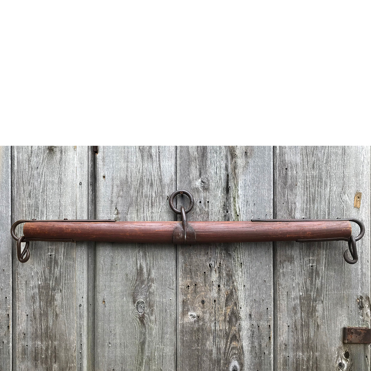 A18021 - Antique Wood and Wrought Iron Whippletree