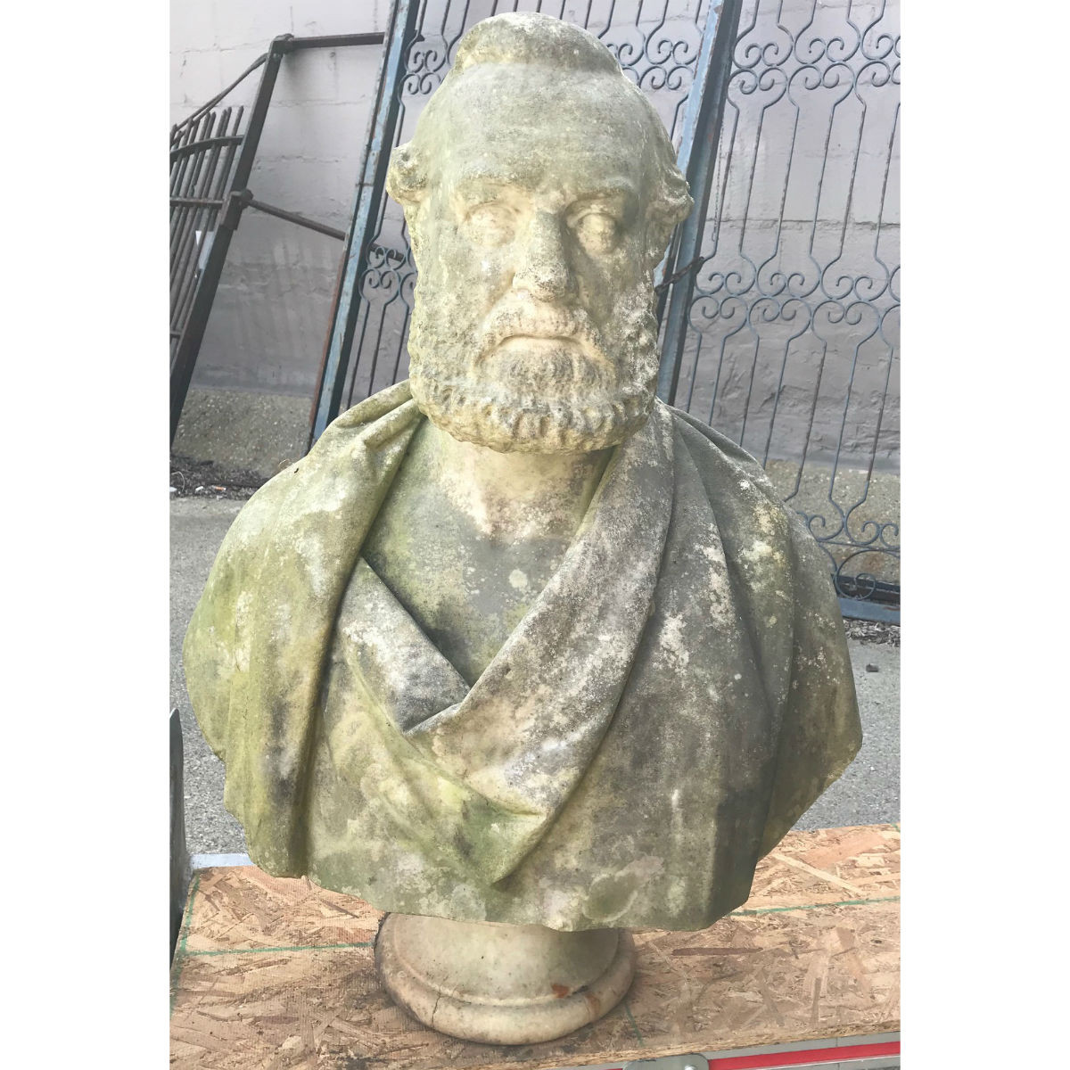 A18038 - Antique Carved Marble Bust of Plato
