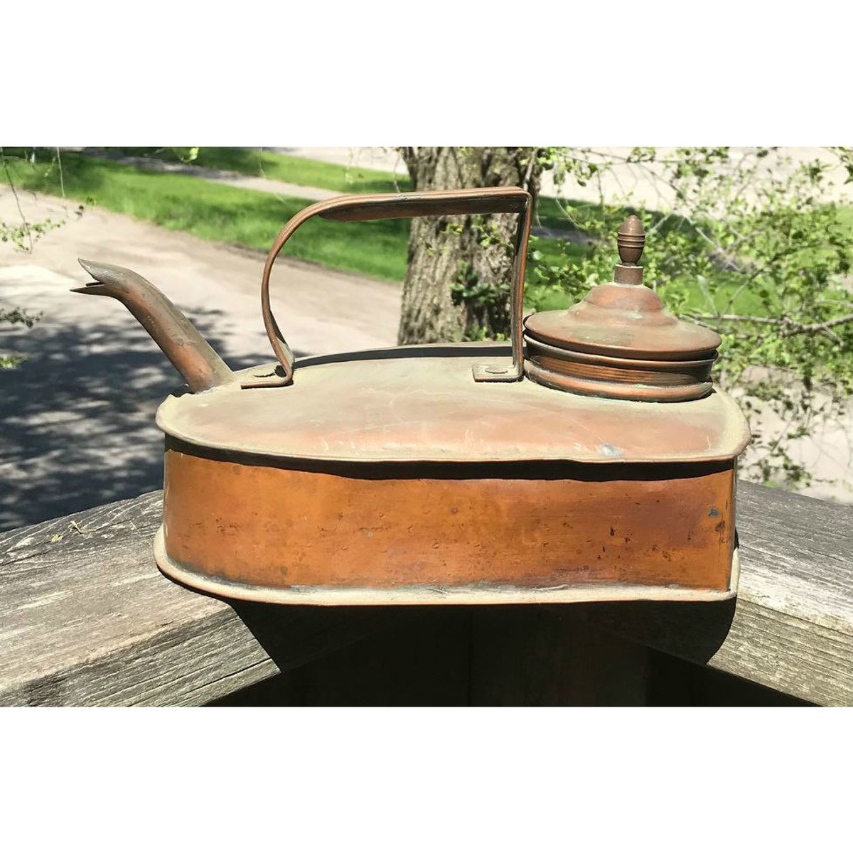 A18058 - Antique 19th Century Copper Teapot