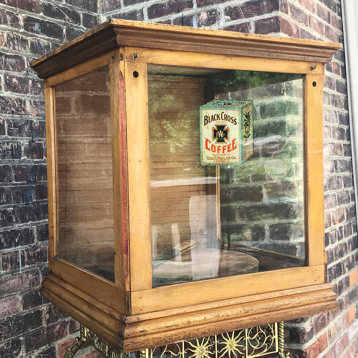 - A18073 - Antique General Store Cheese Board Display Cabinet