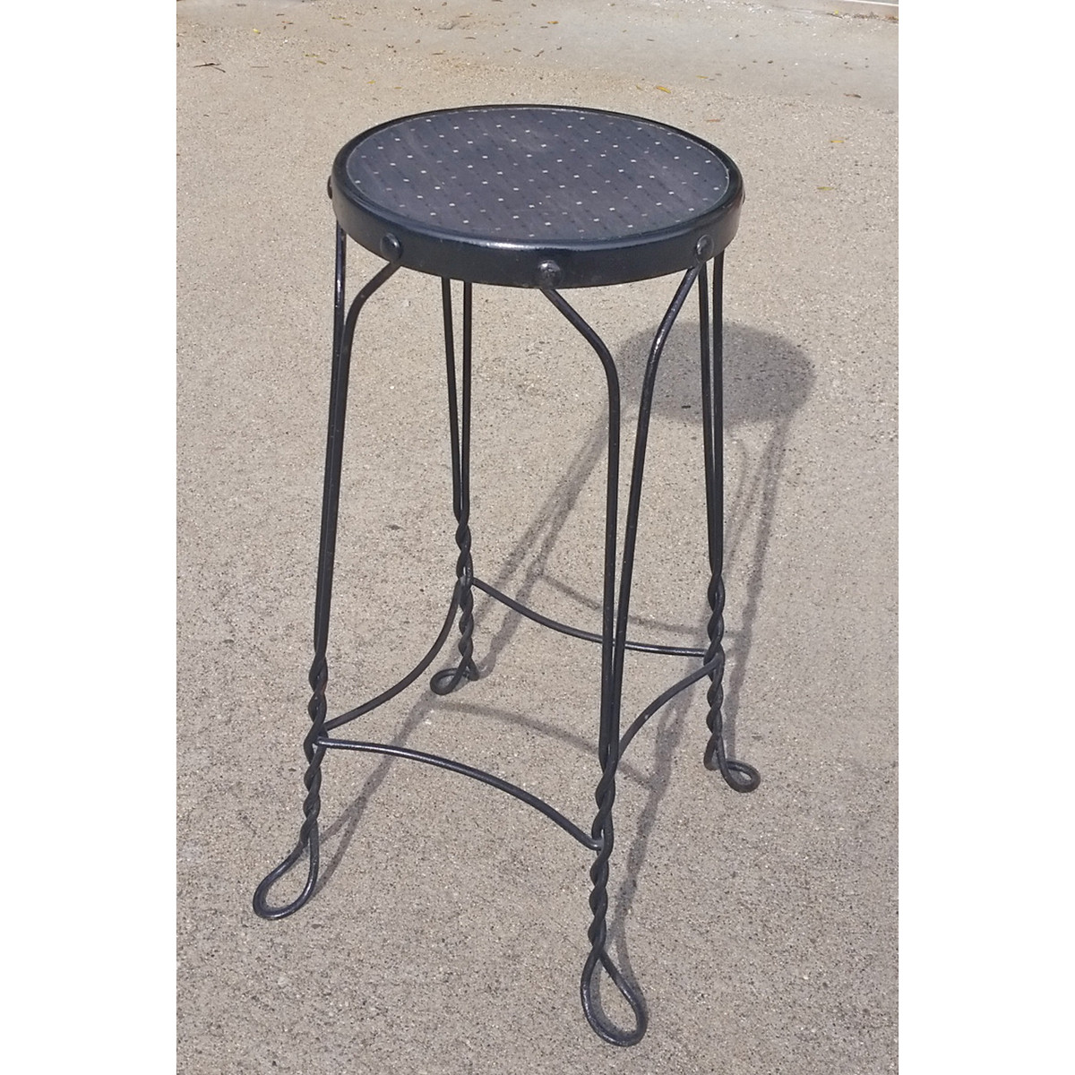 F19021 - Antique Wrought Iron Stool