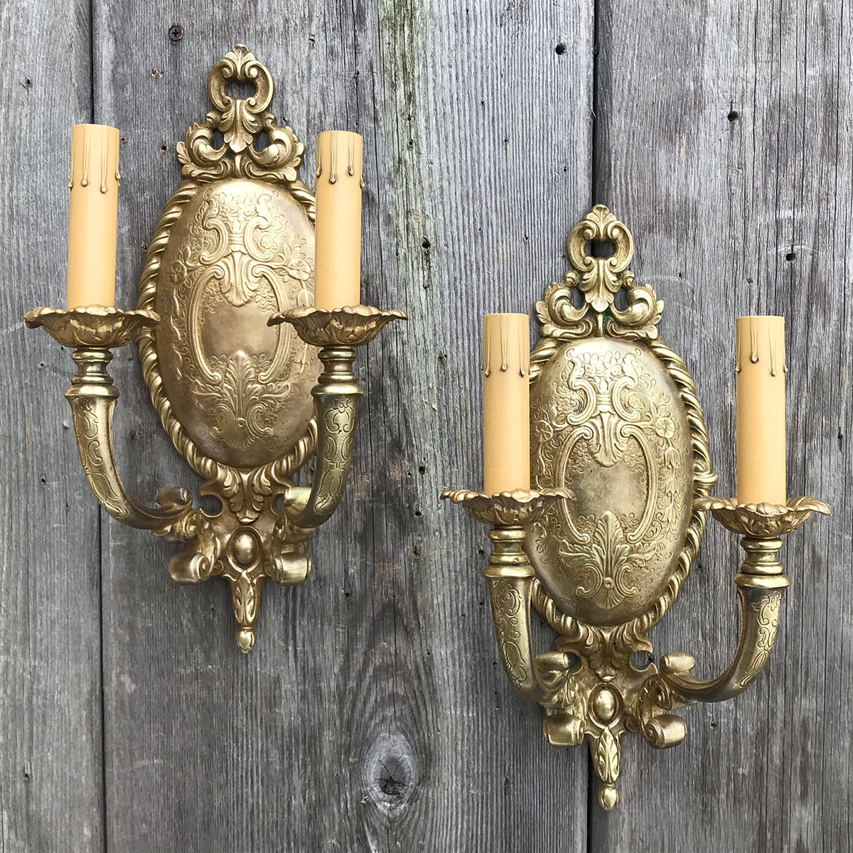 L19040 - Pair of Antique French Candle Sconces