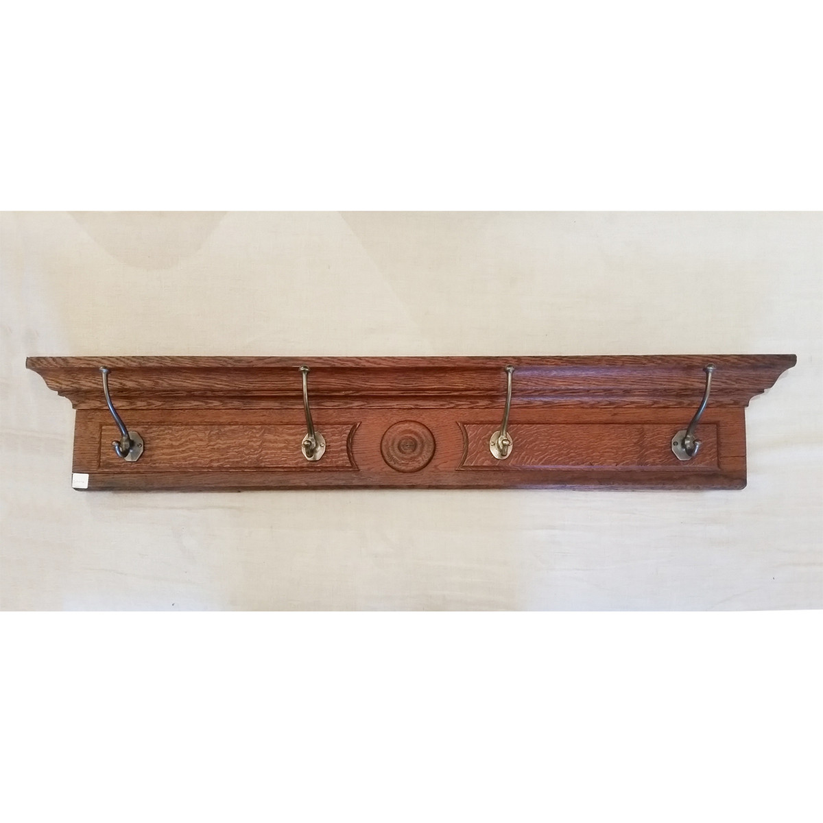 S19006 - Antique Door Header With Antique Hooks