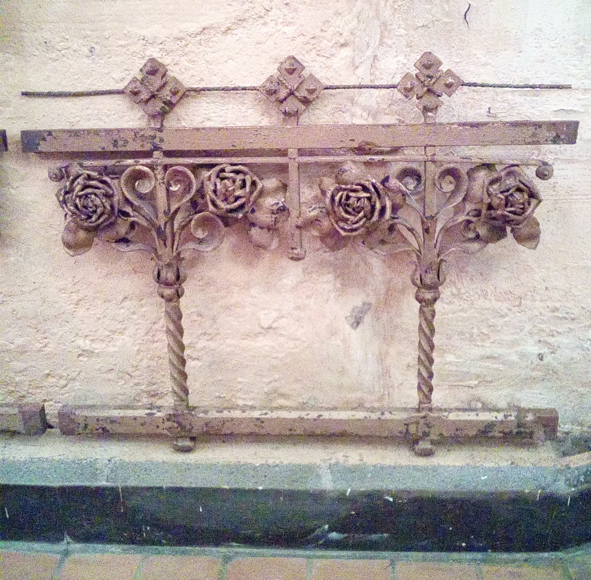S19017A - Elaborate Wrought Iron Altar Rail Section