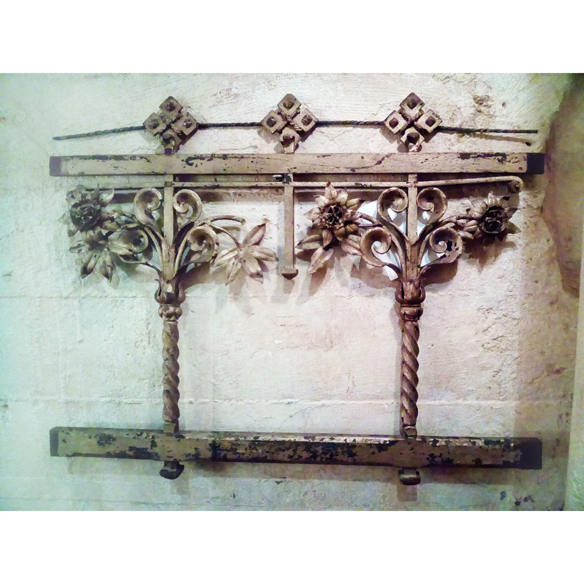 S19017B - Elaborate Wrought Iron Altar Rail Section