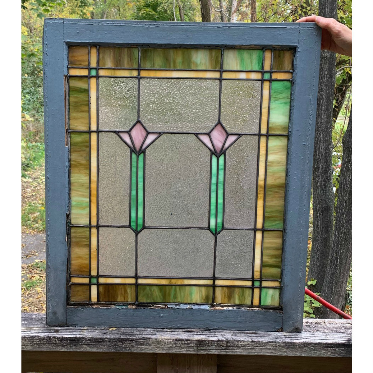 G19151 - Antique Stained Glass Window