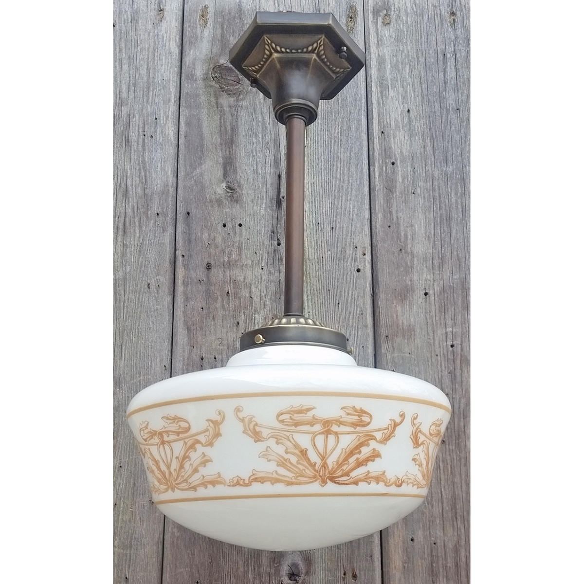L20003 - Antique Beaux Arts Schoolhouse Fixture