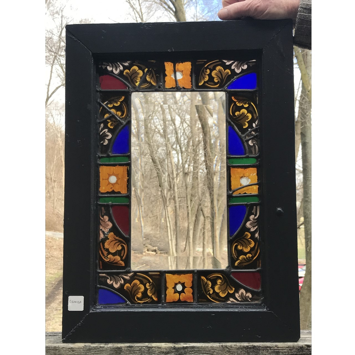G20023 - Antique/Custom Stained and Beveled Glass Window