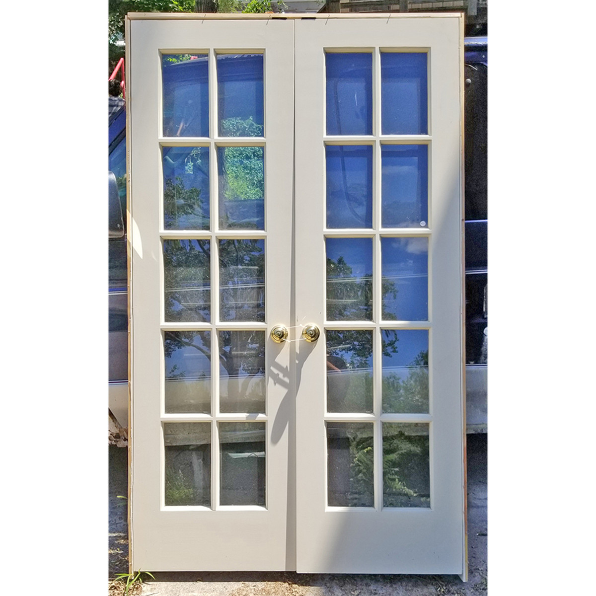 """D20037 - Pair of Vintage Interior French Doors in Jamb 48"""" x 80"""""""