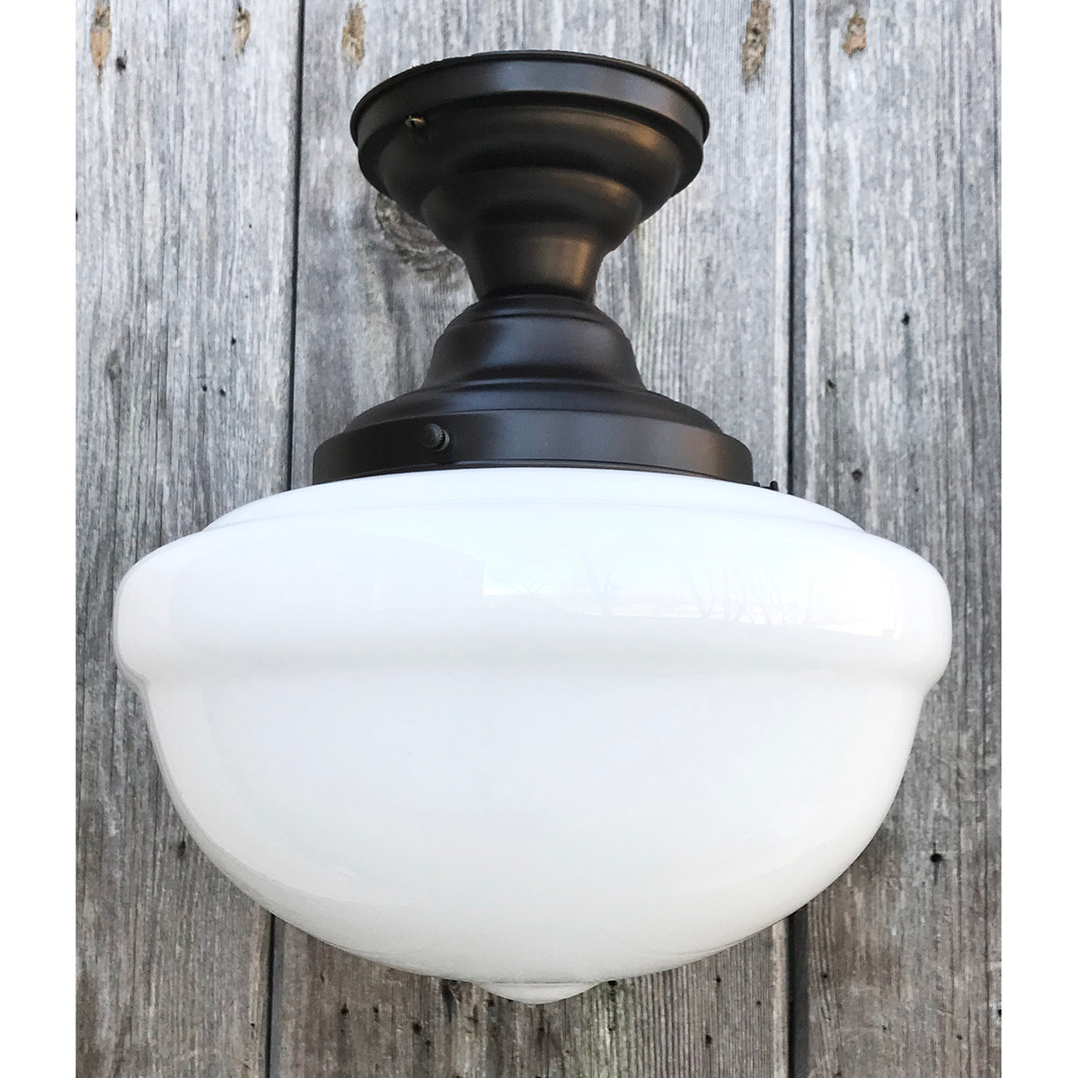 L21019 - Antique Shade on Custom Light Fixture