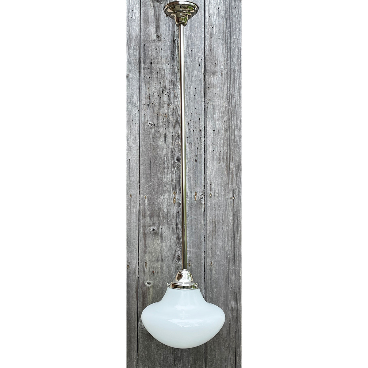 L21113 - Antique Schoolhouse Globe on Custom Fixture