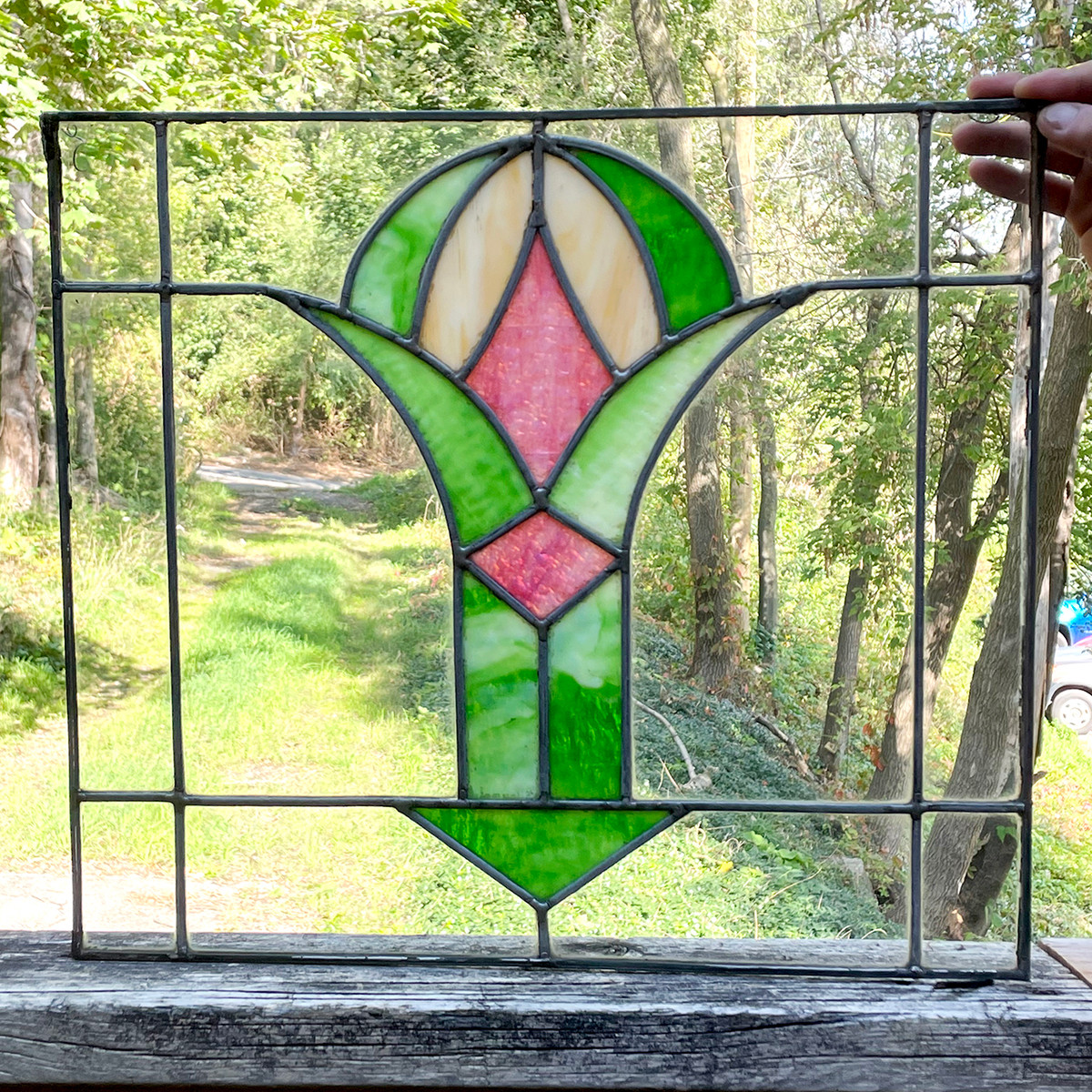 G21078 - Antique Stained Glass Window
