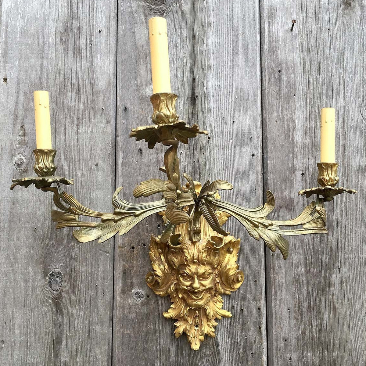 608427 - Antique French Wall Candle Arm Sconce