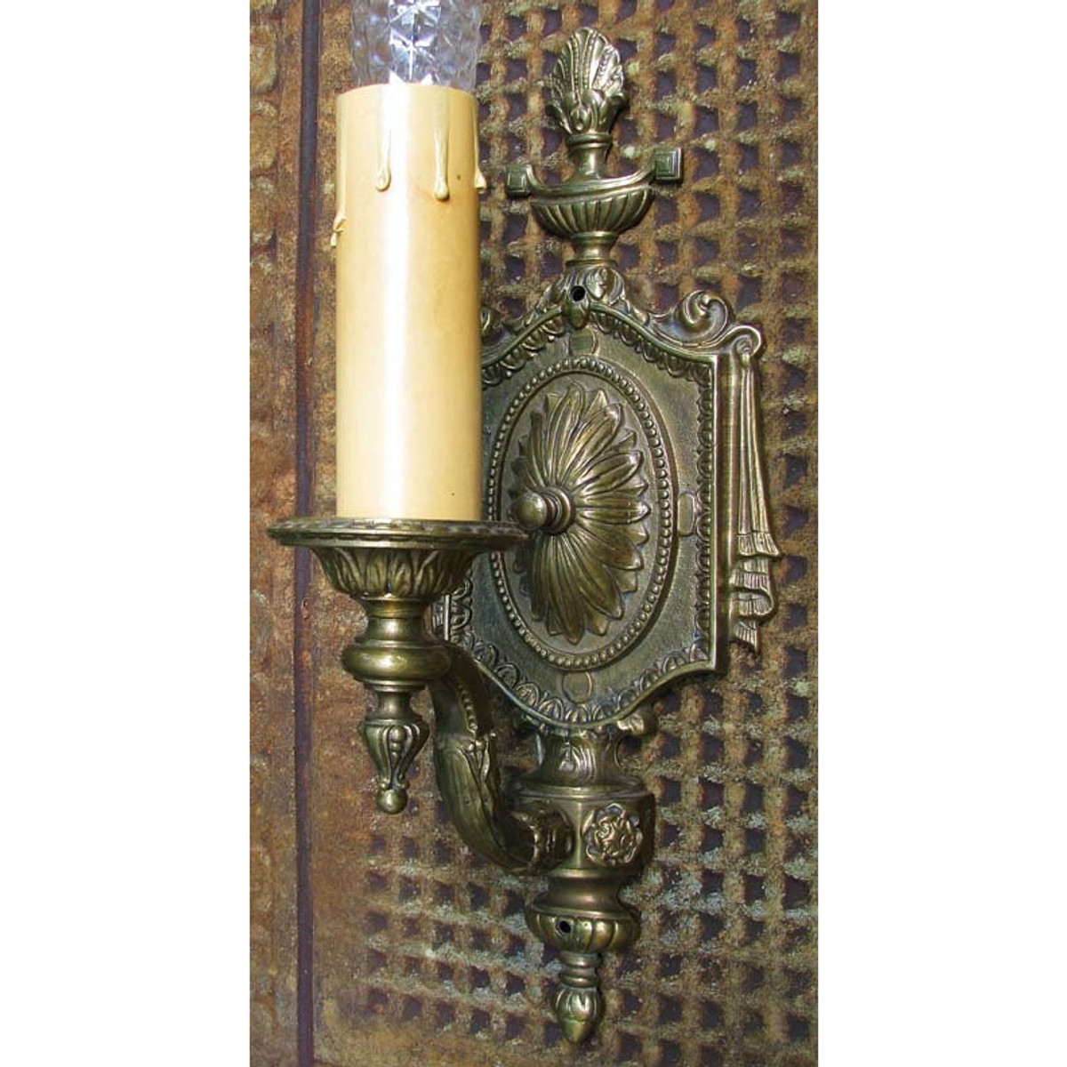 609411 - Antique Neoclassical Candle Arm Wall Sconce
