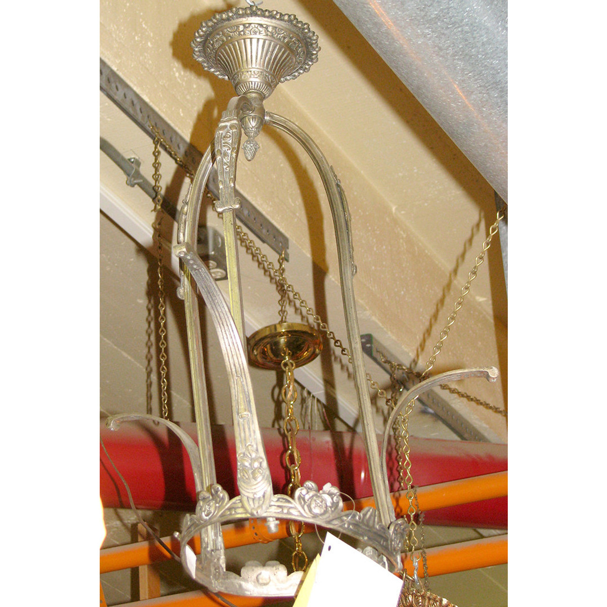 L10672 - Antique French Art Deco Light Fixture Frame - As-Is