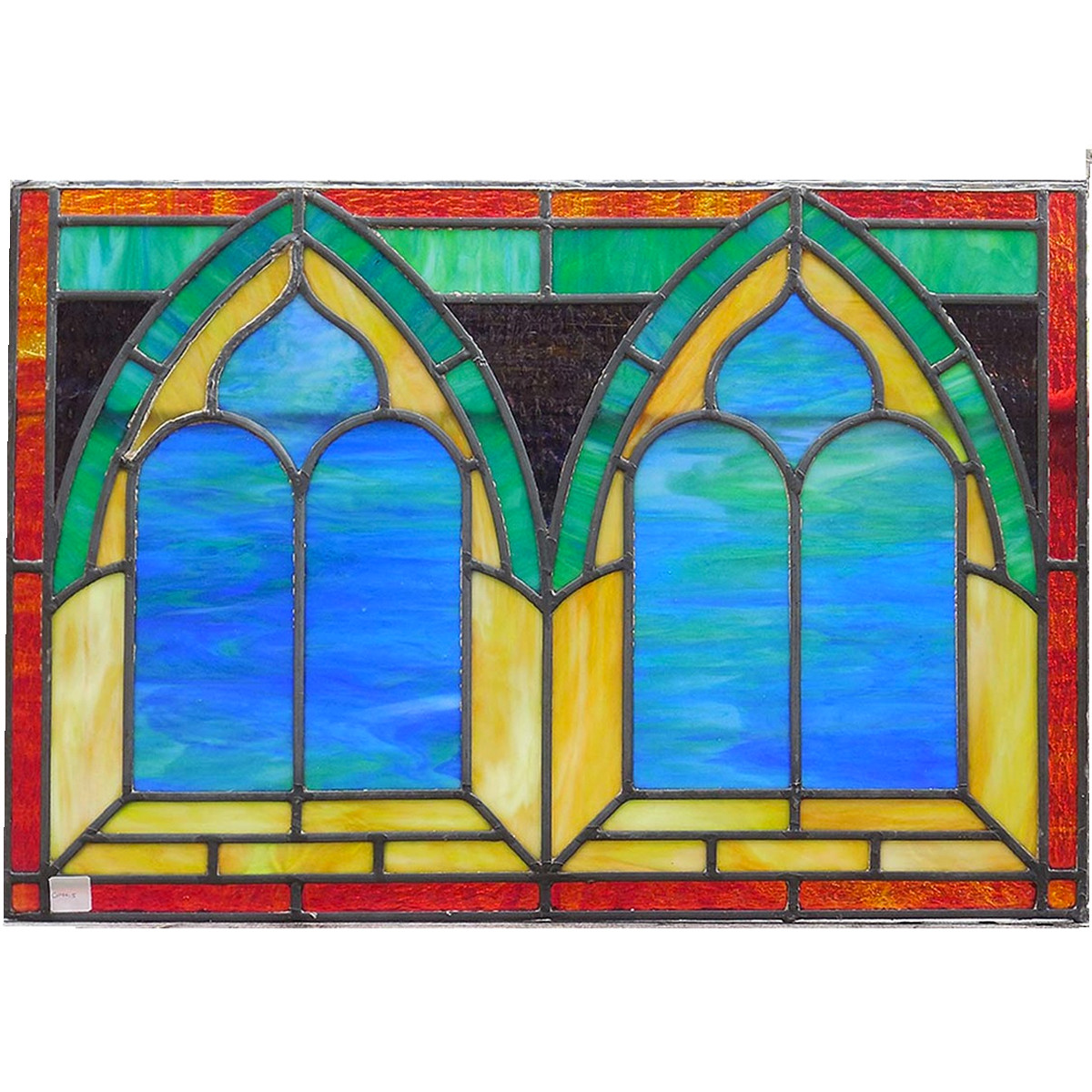 G14015 - Antique Ecclesiastical Stained Glass Window