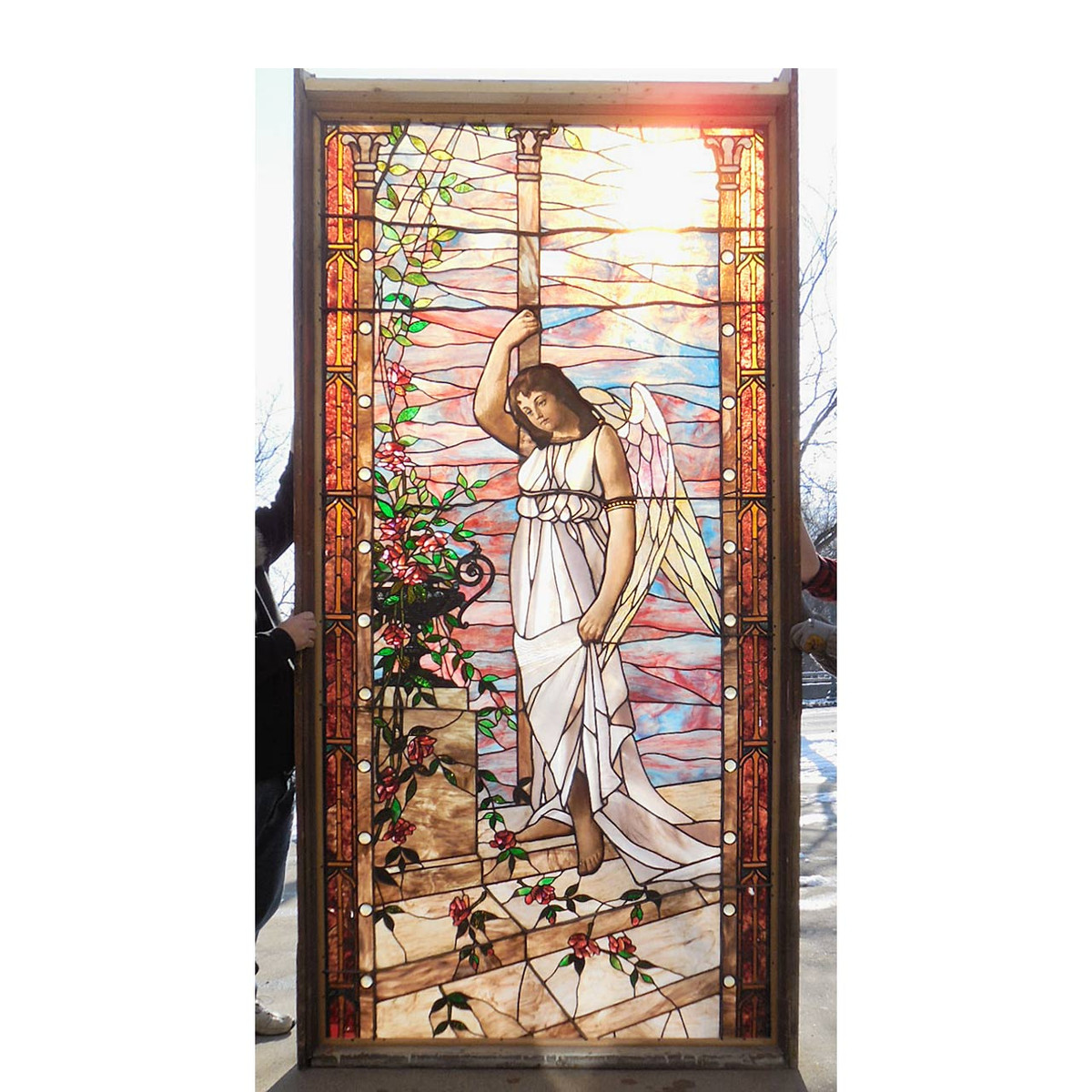 G14093 - Antique Ecclesiastical Stained Glass Window