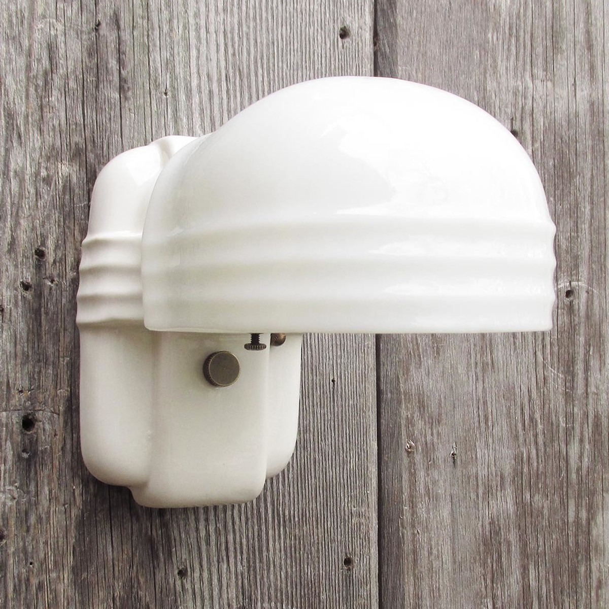 L16209 - Art Deco Porcelain Bathroom Sconces