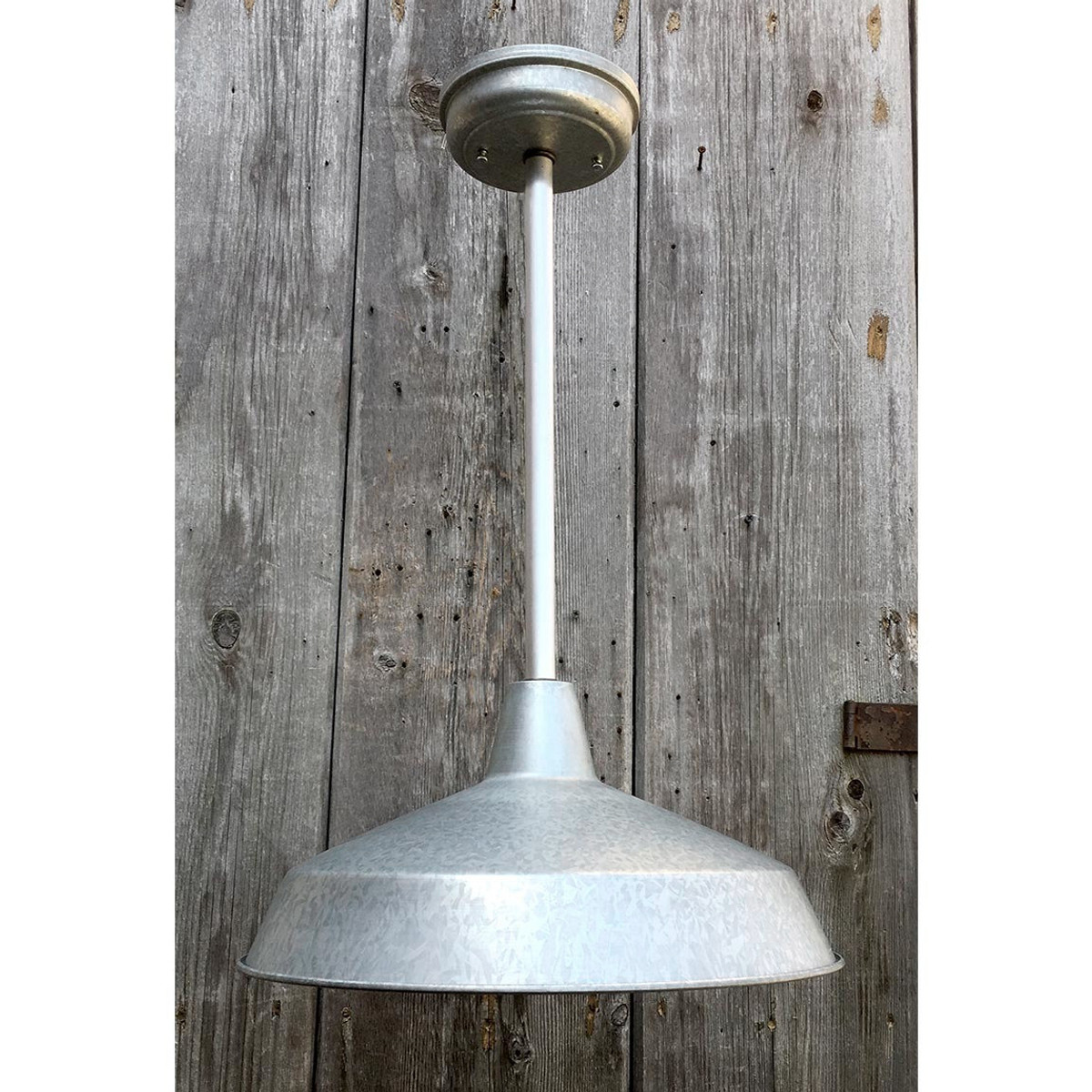 L17053 - Contemporary Industrial Style Galvanized Hanging Pendant Fixture