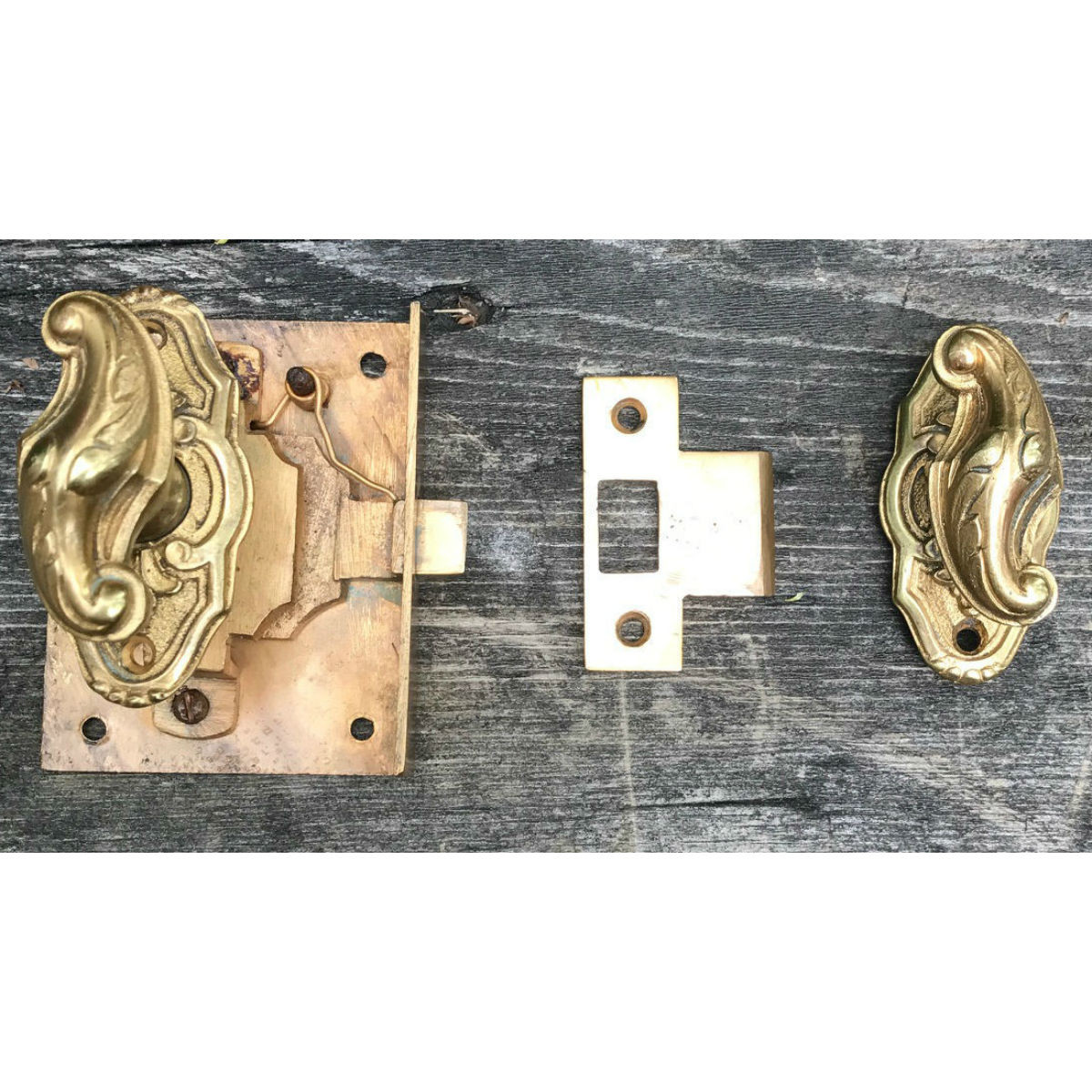 H17008 - Antique Neoclassical Style P. E. Guerin Cabinet Latch Set