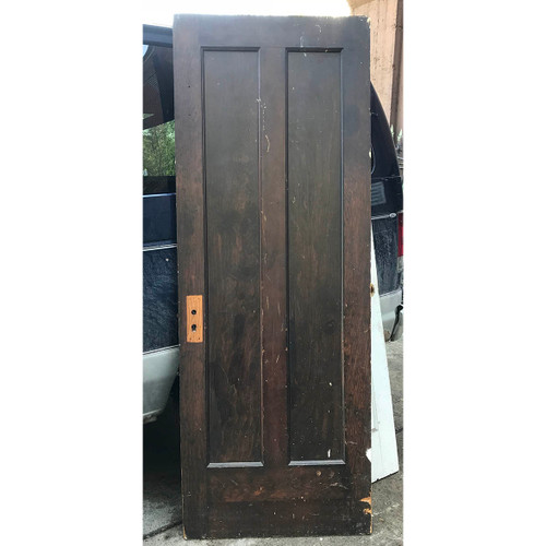 "D17129 - Antique Pine Two Vertical Panel Door 29-3/4"" x 79-3/4"""