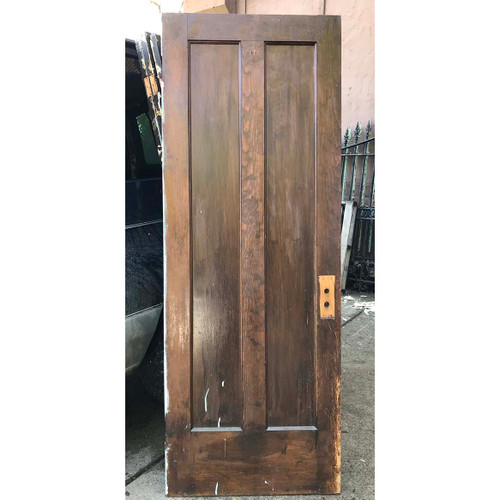 "D17142 - Antique Pine Two Vertical Panel Door 29-3/4"" x 80-1/4"""