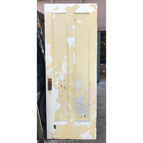 "D17132 - Antique Pine Two Vertical Panel Door 30"" x 79-1/2"""