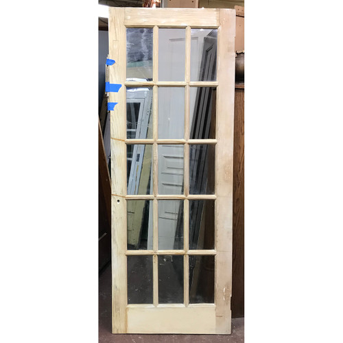"D18006 - Antique Pine Interior French Door 29-1/2"" x 78"""