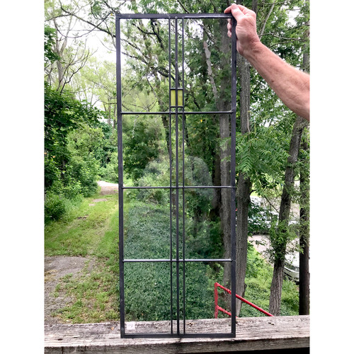 G18026 - Vintage Prairie Style Stained and Clear Glass Window