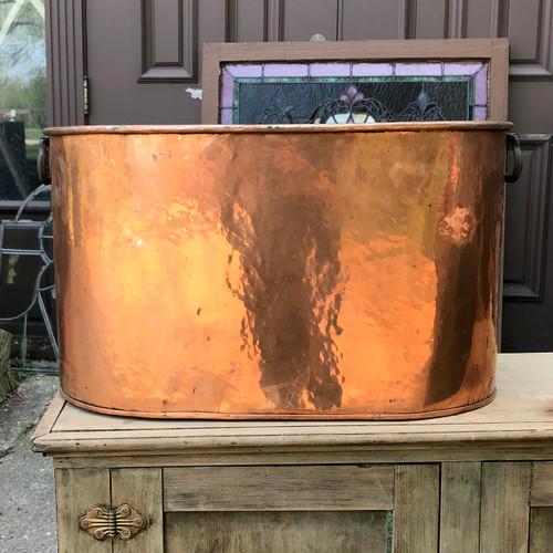 A18036 - Antique Copper Boiler