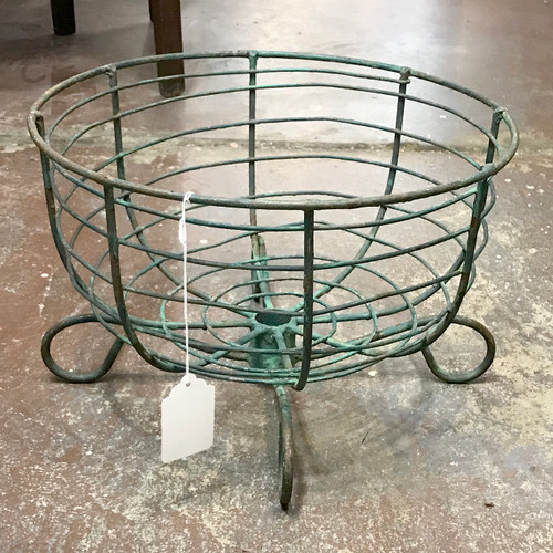 A18084 - Antique Wire Flower Basket