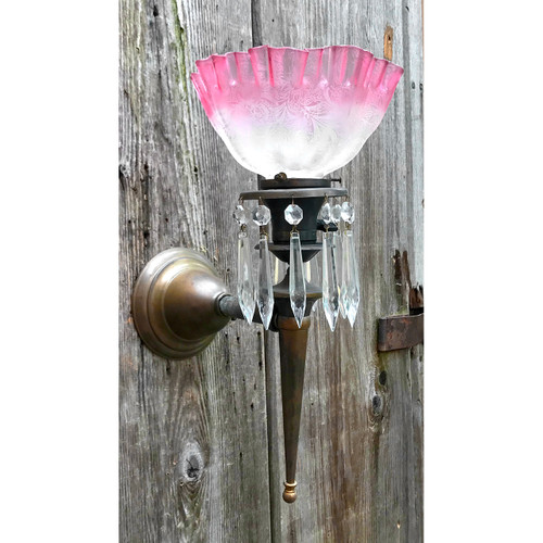 L18120 - Late Victorian Torch Style Sconce
