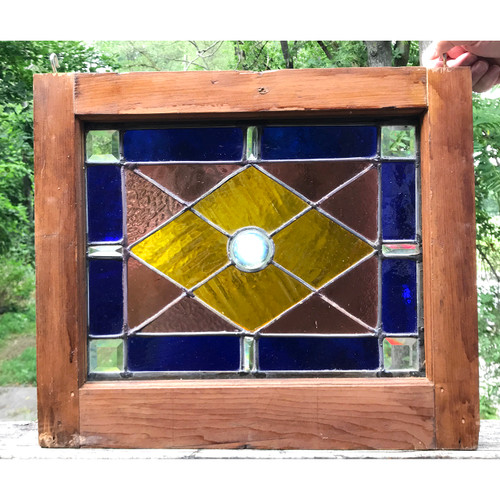 G18066 - Custom/Antique Stained and Beveled Glass Window