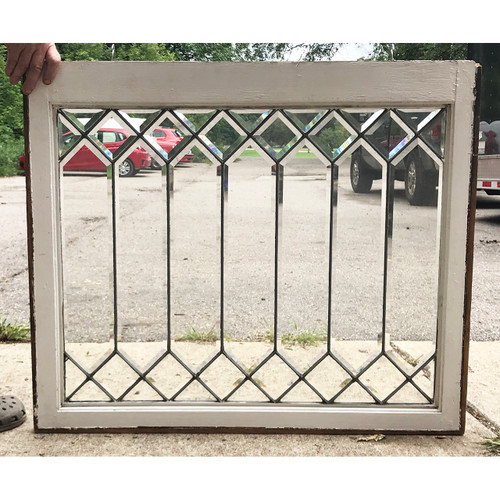 G18068 - Antique Arts and Crafts Beveled Glass Window