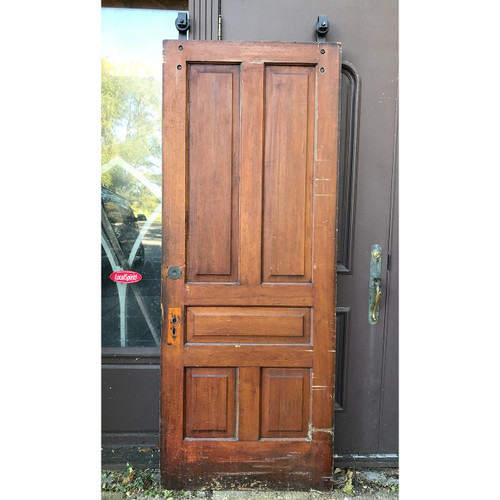 """D18180 - ANTIQUE INTERIOR DOOR With Track and Rollers 34-1/4"""" X 87"""""""