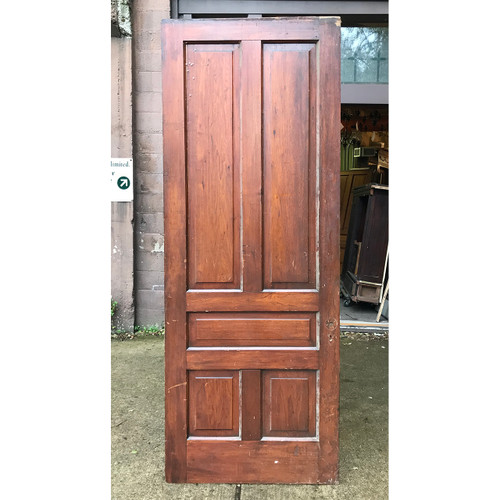 "D18181 - Antique Victorian Butternut Traditional Five Panel Interior Door 36"" x 94-3/4"""