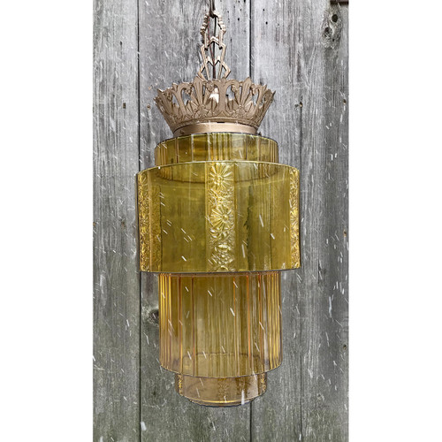 L18152 - Antique Art Deco Light Fixture