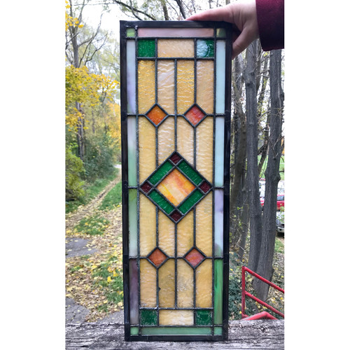 G18082 - Antique Arts & Crafts Stained Glass Window