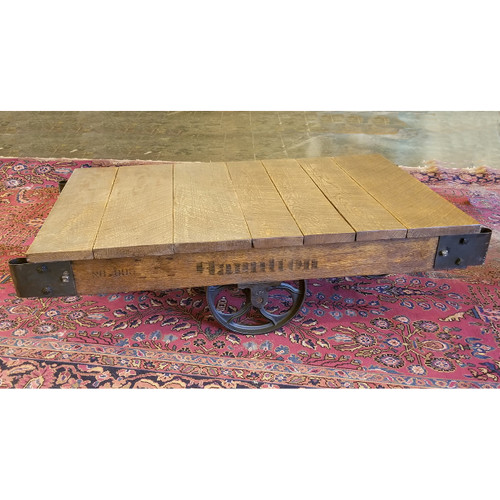 F18139 - Antique Industrial Cast Iron Cart